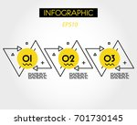 yellow infographic outline... | Shutterstock .eps vector #701730145
