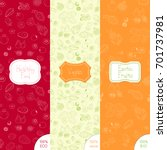 vector set of patterns and... | Shutterstock .eps vector #701737981