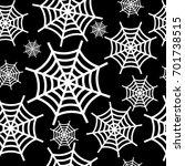 white halloween cobweb seamless ... | Shutterstock .eps vector #701738515