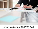 business consulting in office... | Shutterstock . vector #701739841