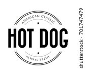 american classic hot dog... | Shutterstock .eps vector #701747479