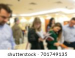 blur of business conference and ... | Shutterstock . vector #701749135