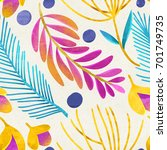 seamless floral pattern on... | Shutterstock . vector #701749735