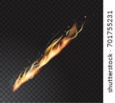 realistic fire flame | Shutterstock .eps vector #701755231