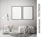 mock up poster frame in pastel... | Shutterstock . vector #701756254