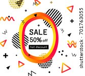 vector sale poster  banner... | Shutterstock .eps vector #701763055