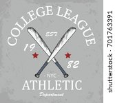 college league typography t... | Shutterstock .eps vector #701763391