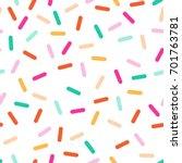 bright seamless vector confetti ... | Shutterstock .eps vector #701763781
