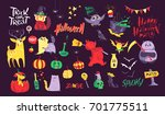 collection of flat vector... | Shutterstock .eps vector #701775511