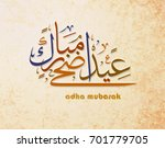 illustration of eid mubarak and ... | Shutterstock .eps vector #701779705