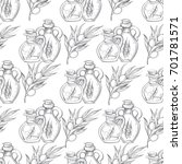 seamless pattern with the image ... | Shutterstock .eps vector #701781571