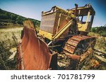 Vintage Bulldozer. An Abandone...