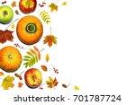 autumn composition. seasonal...   Shutterstock . vector #701787724