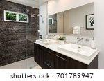 modern bathroom design custom... | Shutterstock . vector #701789947