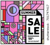 summer sale colorful style... | Shutterstock .eps vector #701797417