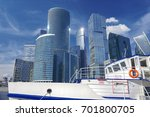 view on white touristic boat... | Shutterstock . vector #701800705