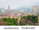 panoramic view on macao... | Shutterstock . vector #701801305