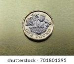 1 pound coin money  gbp  ... | Shutterstock . vector #701801395