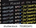 real html code developing... | Shutterstock . vector #701802691