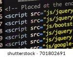 real html code developing... | Shutterstock . vector #701802691