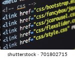 real html code developing... | Shutterstock . vector #701802715