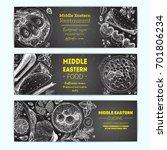 middle eastern cuisine ...   Shutterstock .eps vector #701806234