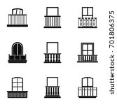 balcony icon set. simple set of ... | Shutterstock .eps vector #701806375