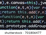 real java script code... | Shutterstock . vector #701806477