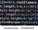 real java script code... | Shutterstock . vector #701806495
