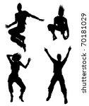 dancer  silhouettes  also...