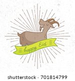 eid al adha greeting in grunge... | Shutterstock .eps vector #701814799