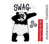 swag panda spinner. dancing... | Shutterstock .eps vector #701820631