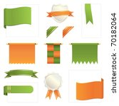 Green And Orange Banners  Tabs...