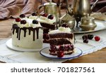 black forest cake ... | Shutterstock . vector #701827561