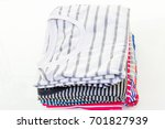 stack of shirts in different... | Shutterstock . vector #701827939