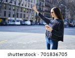 young brunette woman in... | Shutterstock . vector #701836705