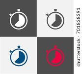 timer and stop watch icon and... | Shutterstock .eps vector #701838391