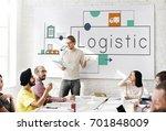 people working on network...   Shutterstock . vector #701848009