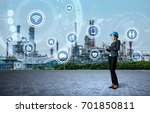 young engineer and smart... | Shutterstock . vector #701850811