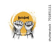 Broken Handcuff Freedom Concep...