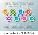 vector abstract 3d paper... | Shutterstock .eps vector #701853049