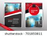 red brochure cover   flyer ... | Shutterstock .eps vector #701853811