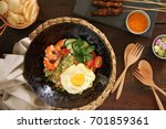 nasi goreng gourmet. indonesian ... | Shutterstock . vector #701859361