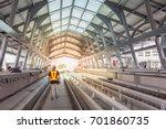 inspector  engineer  walk on... | Shutterstock . vector #701860735