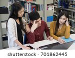 group of college students...   Shutterstock . vector #701862445