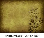 Silhouette of branches of a...