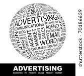 advertising. globe with... | Shutterstock .eps vector #70186639