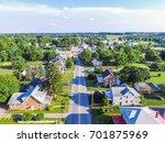 aerial of main street area in... | Shutterstock . vector #701875969
