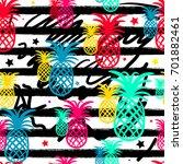 exotic summer endless... | Shutterstock .eps vector #701882461