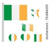 ireland flag vector... | Shutterstock .eps vector #701886205